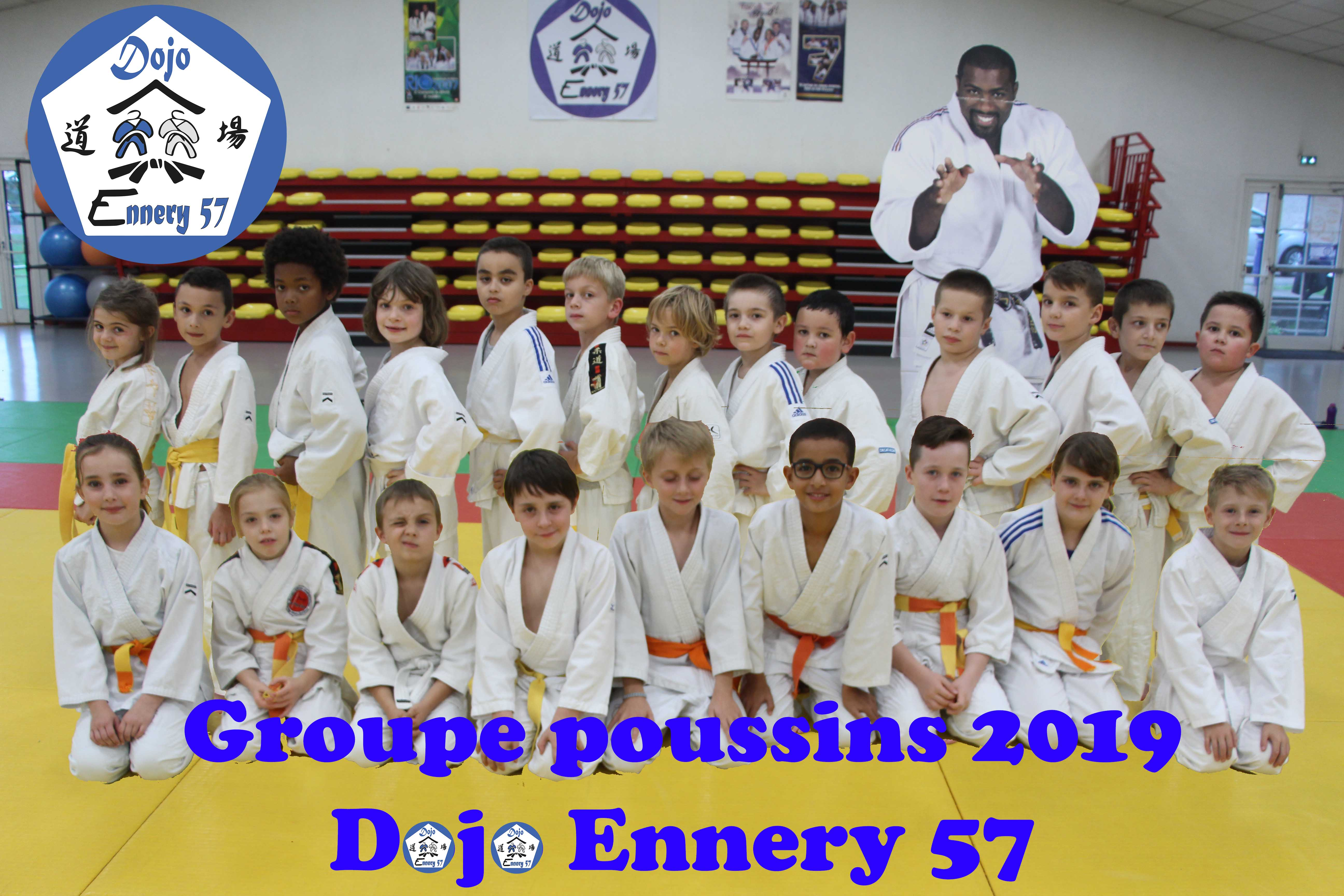 Dojo ennery 57 groupe POUSSINS 2019